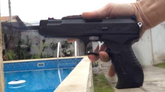 Pistola P17 Beeman 2004 chumbinho 4.5 mm por pressão