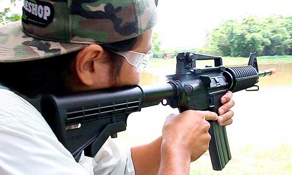 arma de airsoft gr16 m4a1