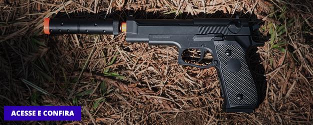 Pistola Airsoft Beretta M22 Spring com Silenciador Review Ventureshop