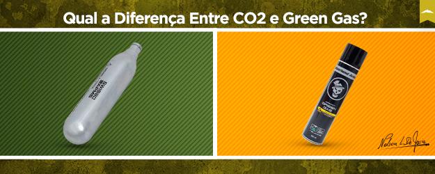 diferença entre co2 e green gas